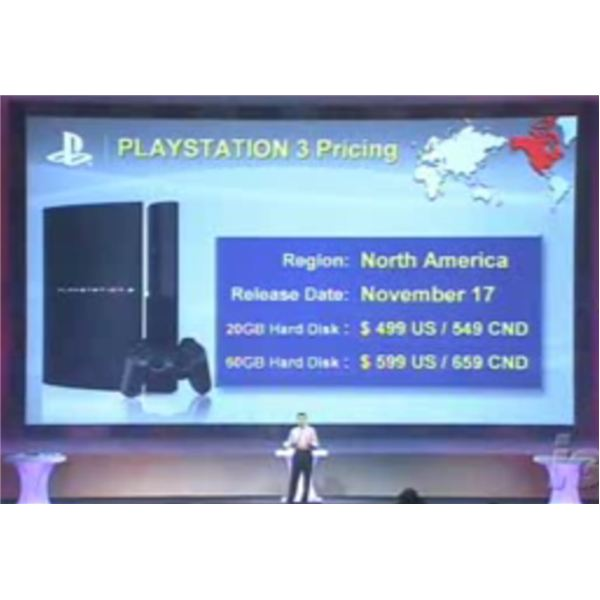 Kaz Hirai reveals the PS3 will be $599.99 in North America