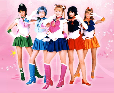 The cast of the live action Sailor Moon TV show